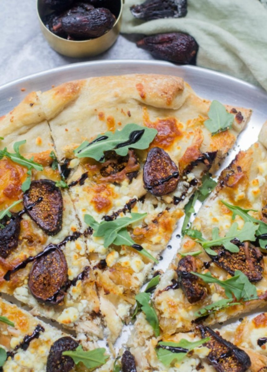 Chicken, Goat Cheese, and Fig Pizza