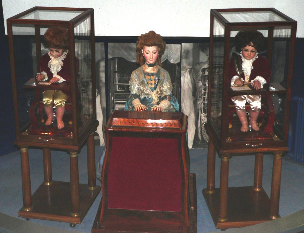 Pierre Jaquet-Droz Automata: The Writer, The Musician, and the Draughtsman.