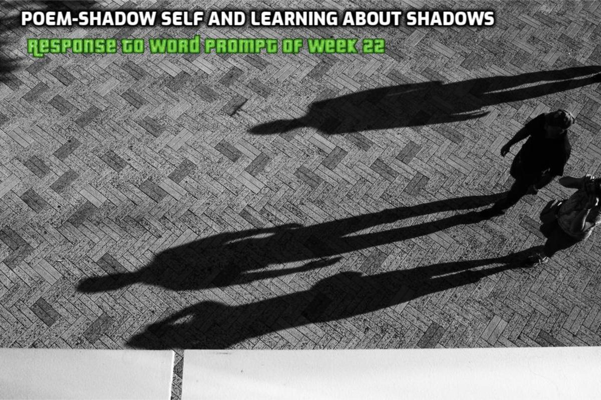 Poem-Shadow Self and Learning About Shadows-Response to Word Prompt of Week 22