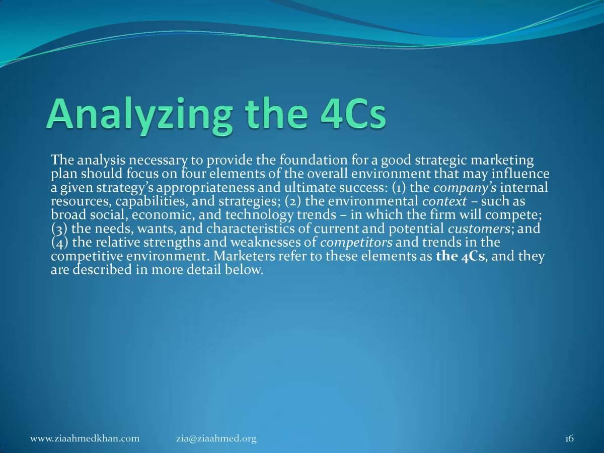 4 C of Market Planning