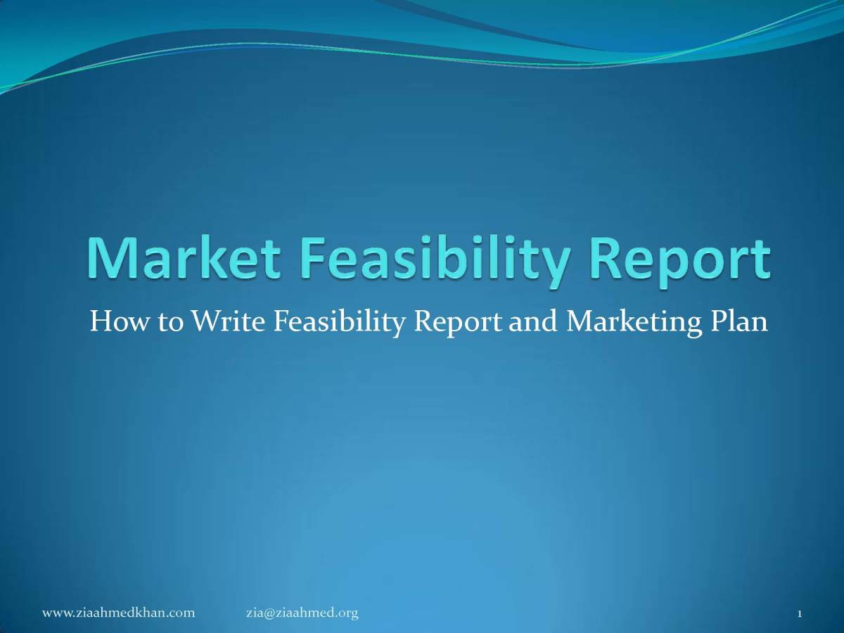 How to Make Market Feasibility Report