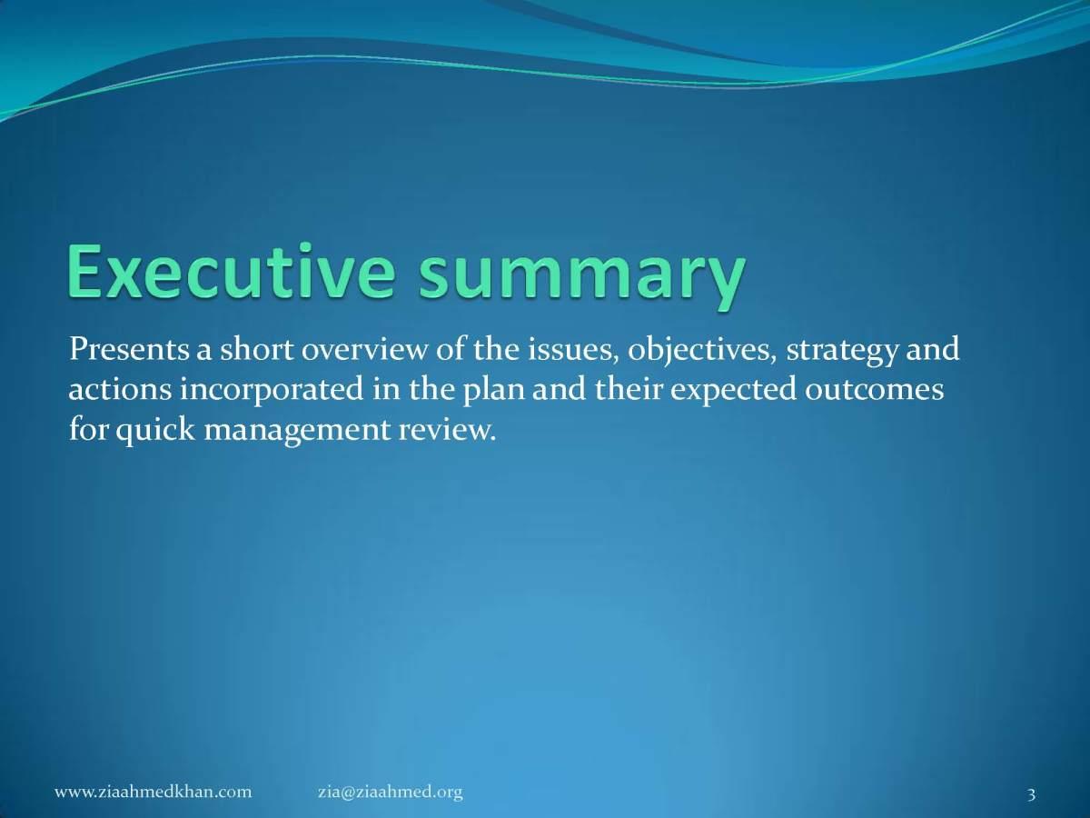 Market Study Executive Summery
