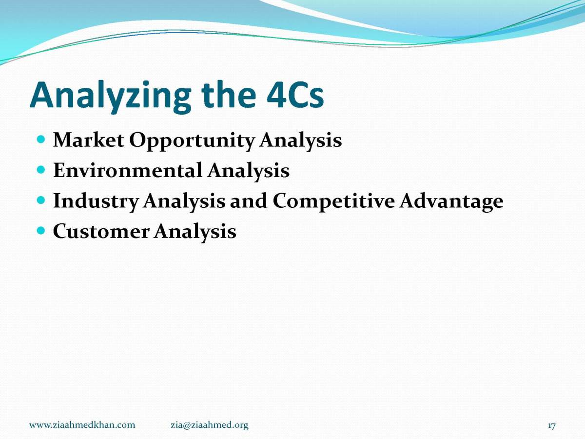 Marketing , the 4 C of Marketing Plan