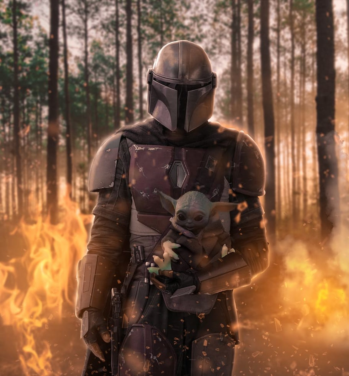 The Mandalorian and his adopted son, Grogu.