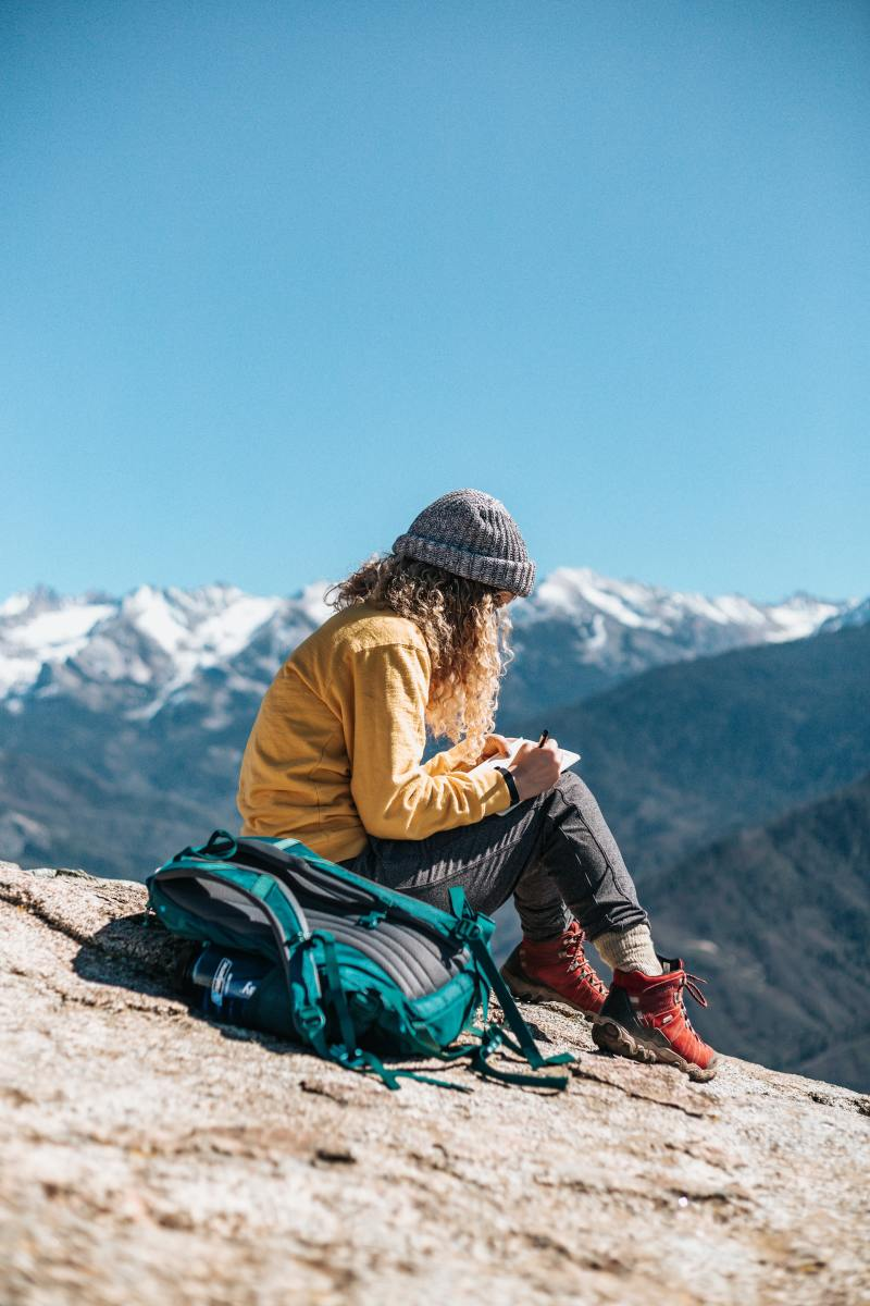 Surrounding Yourself with the Beauty of Nature and Writing Your Travel Journal is Fun.