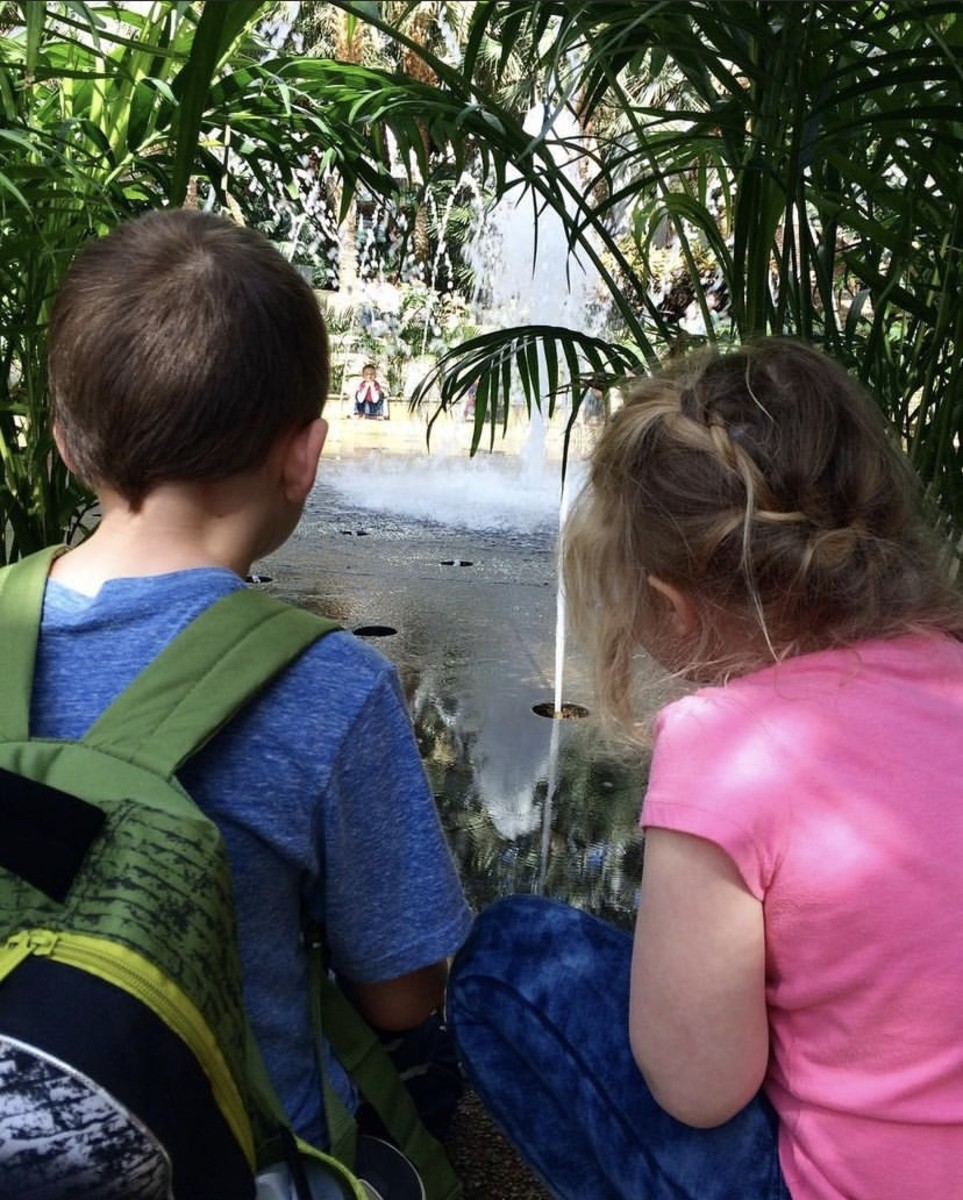 Bringing younger siblings along on field trips is a great way to include them in homeschooling lessons!