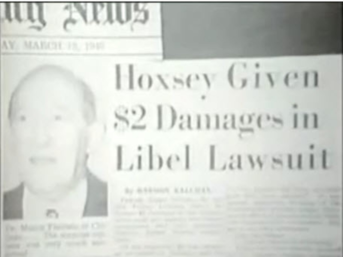 A Newspaper Article About Hoxsey's Libel victory