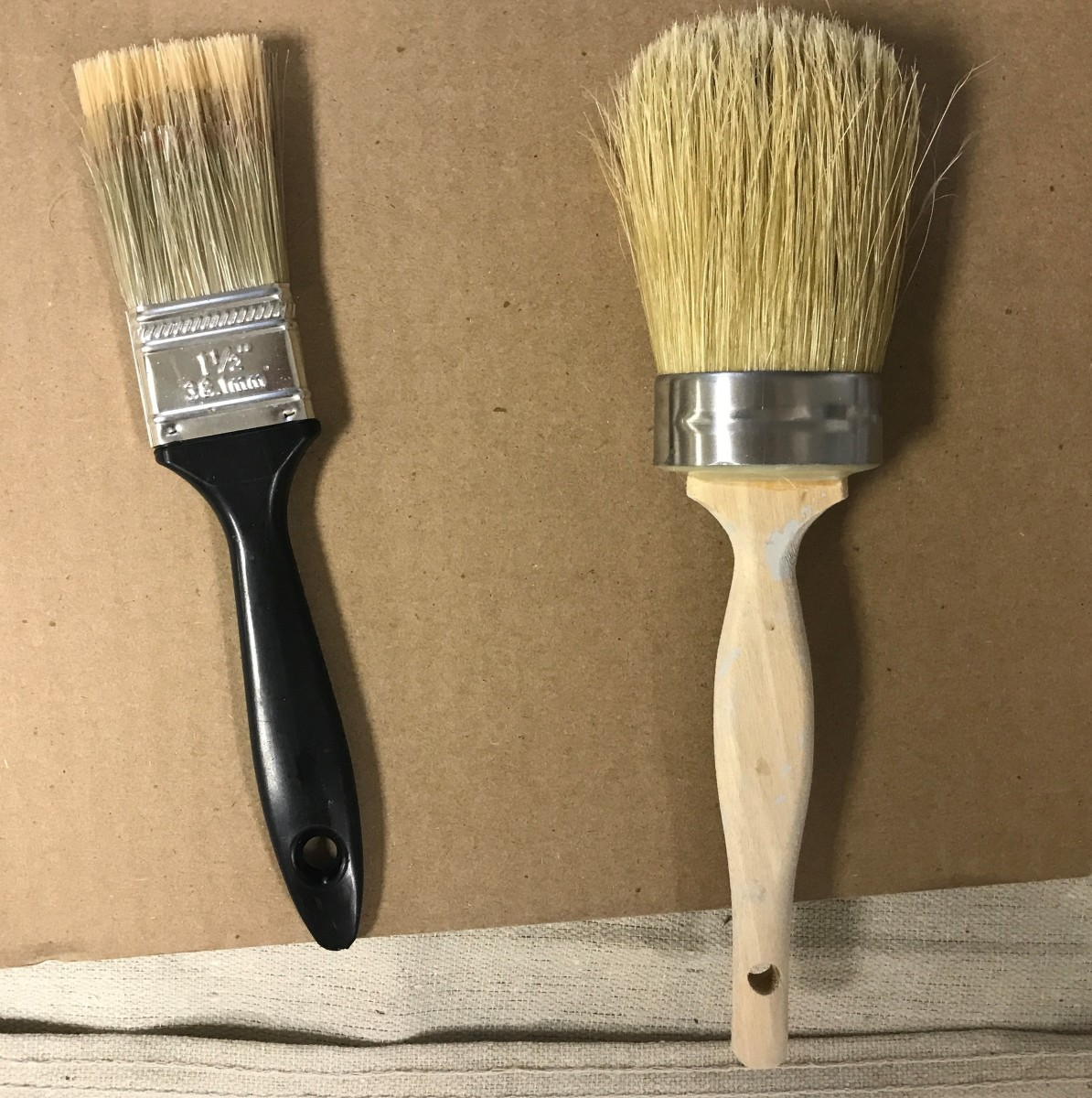 The  Chalk Paint Brush is an investment, but will serve you well.  I used a regular smaller paint brush to get in small places.  It's your call.