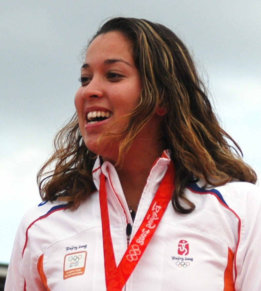 Swimmer Ranomi Kromowidjojo celebrates winning a gold medal at the 2008 Summer Olympics in Beijing, China. She did this at the age of 17 which makes it that much more remarkable.