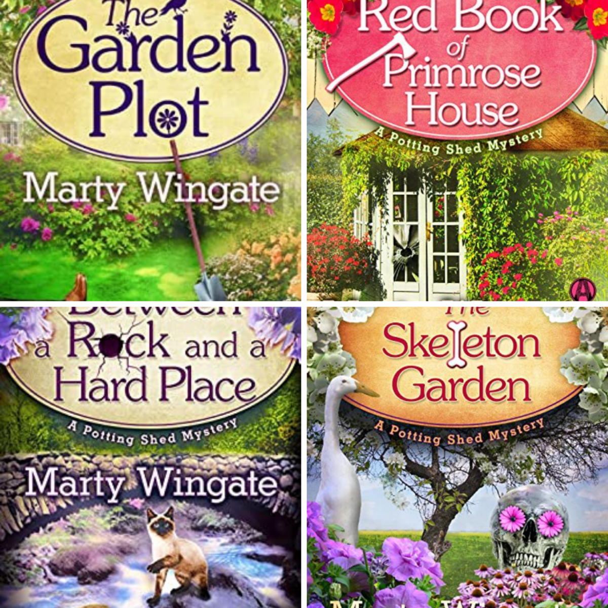 These are the first four books in The Potting Shed Mystery Series