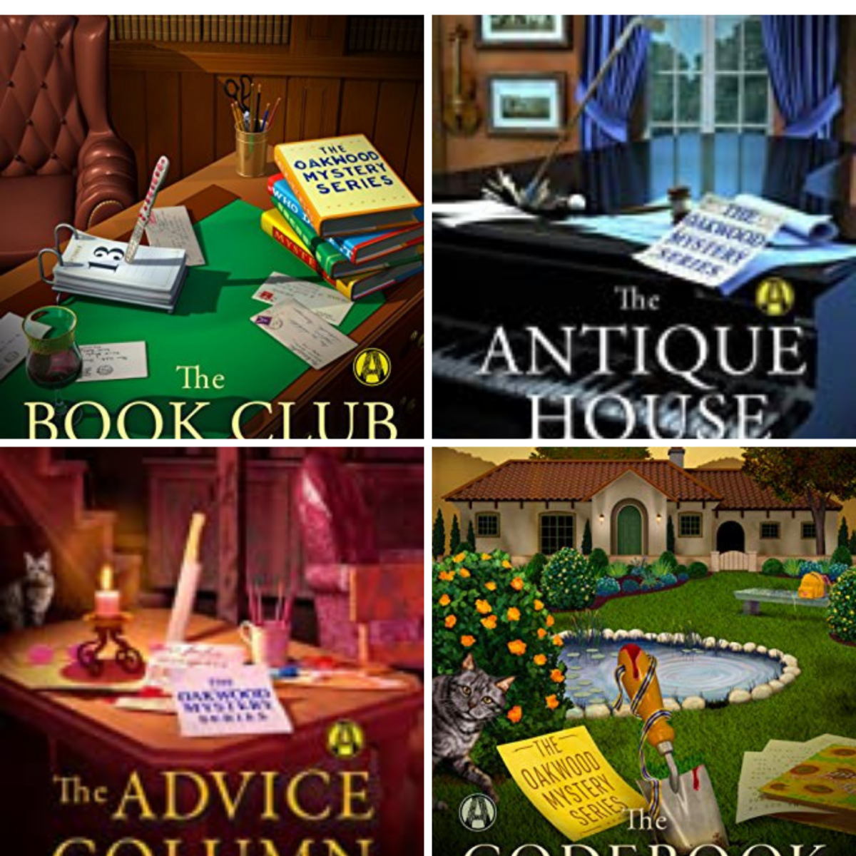 These are the first four books in The Oakwood Book Club Mystery Series.