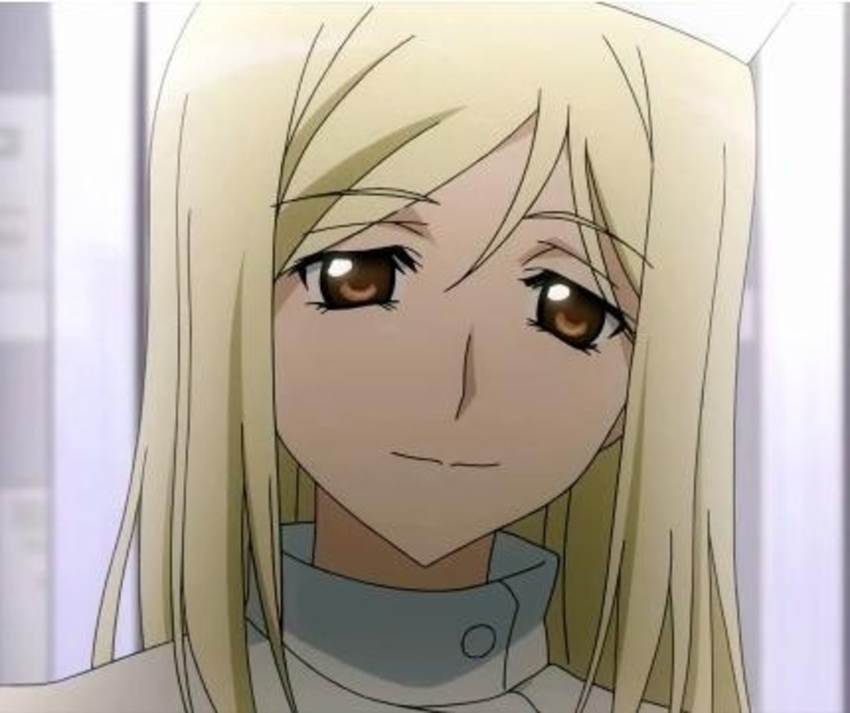 Once upon a time, someone mentioned to me how, despite most of the cast going insane, Takano never does.  This is the same expression she has during the entire anime.  It was creepy, and an interesting tell.