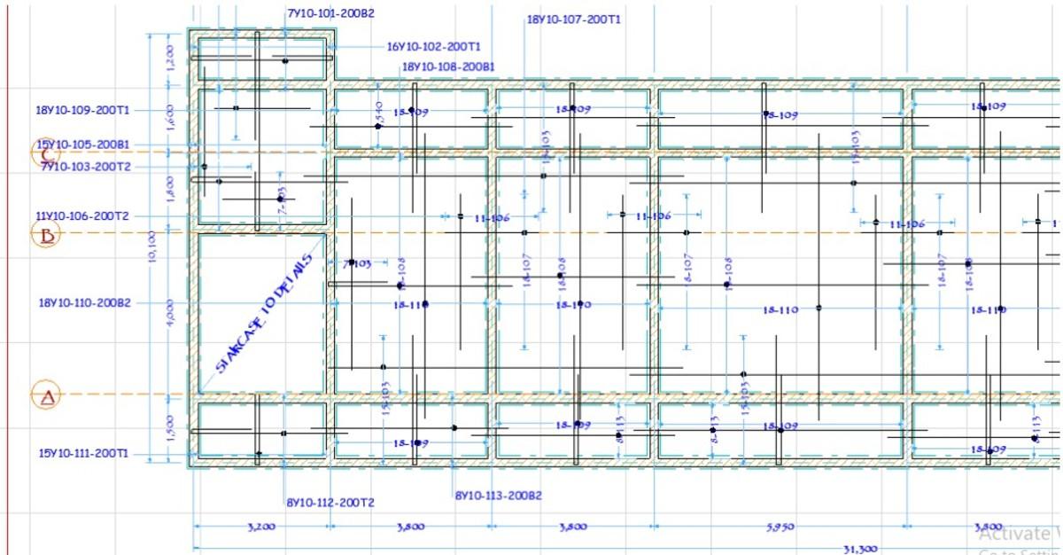 Slab layout plan