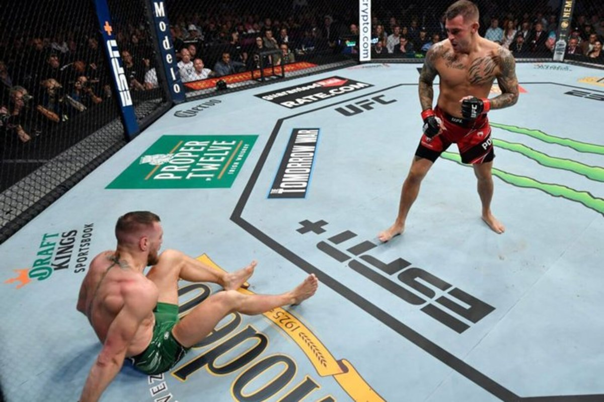 Conor McGregor's leg injury during his bout with Dustin Poirer at UFC 264.