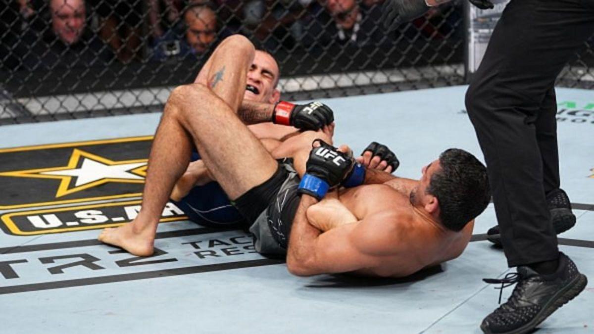Beneil Dariush's leg lock on Tony Ferguson at UFC 262.