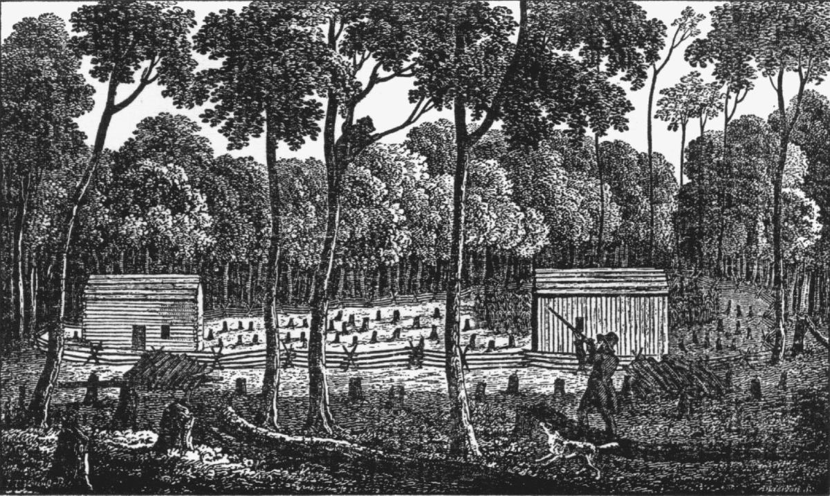 Early settlements were carved from the woods. Early homes were surrounded by stumps of felled trees.