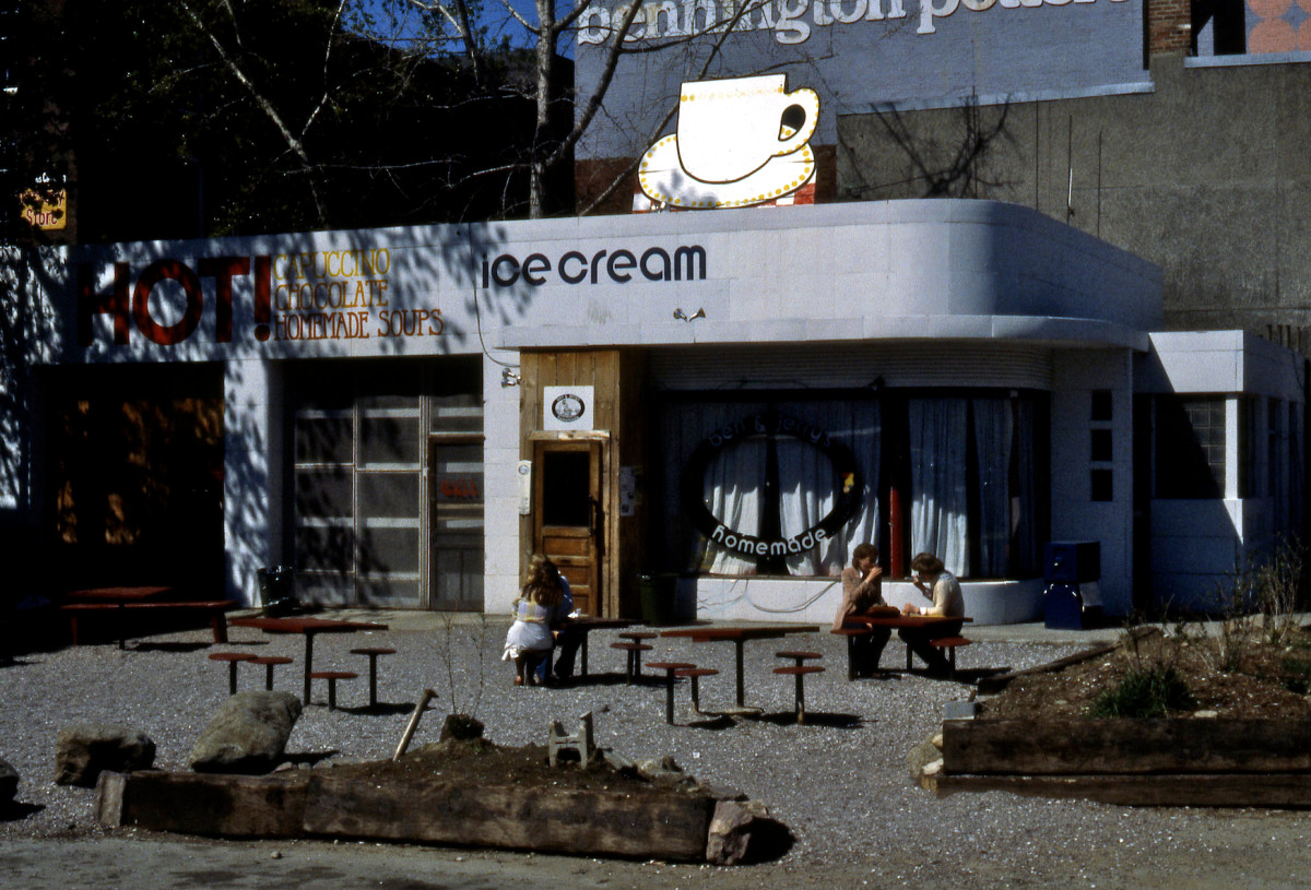 Corner of St. Paul & College Streets, the first Ben & Jerry's shop.