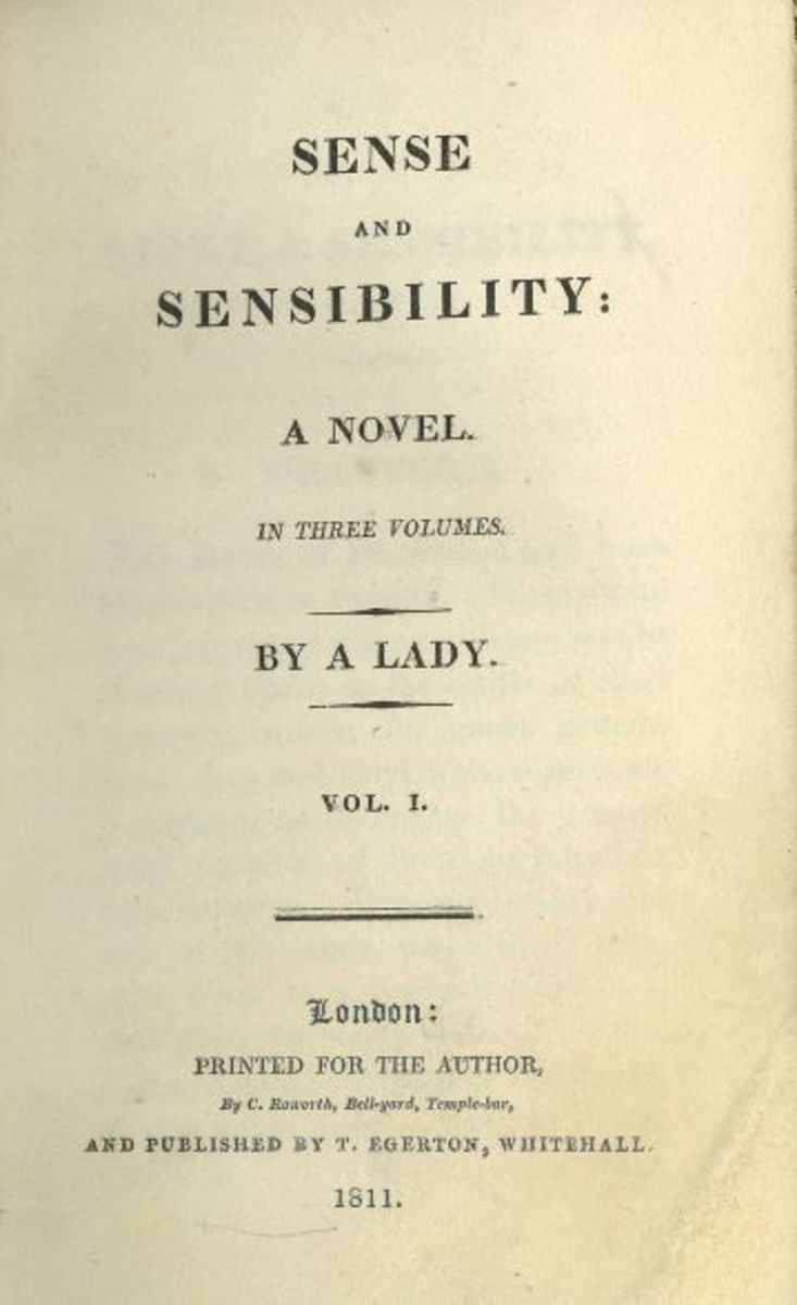 The title page from Sense and Sensibility.