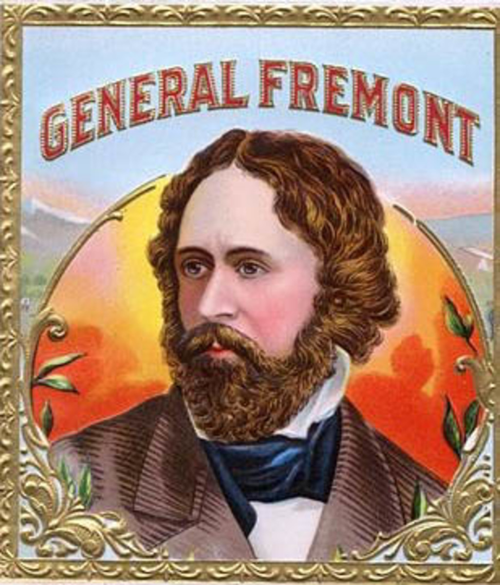 John C. Fremont. In the old days, getting your face on a cigar box was like having your portrait on the Wheaties box.
