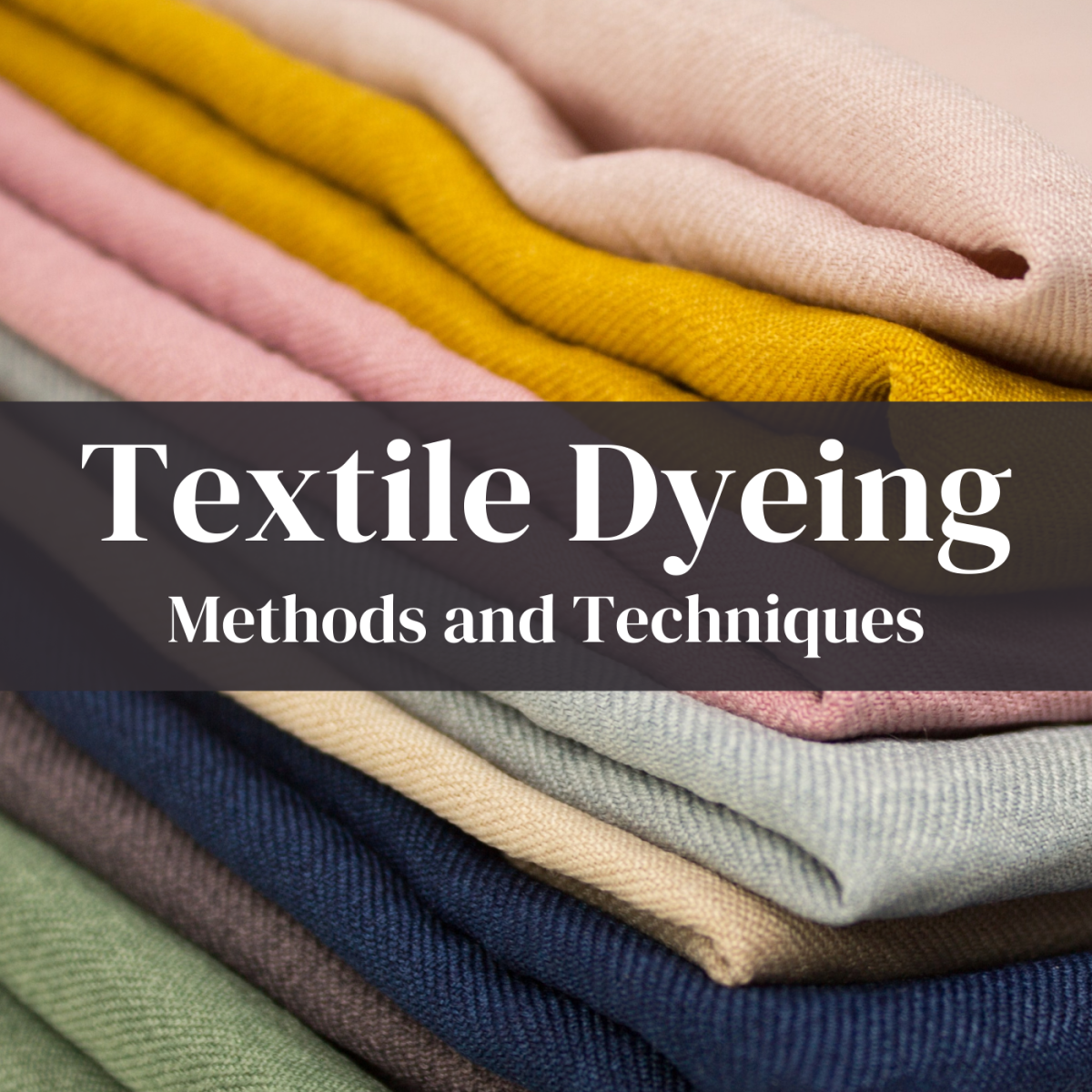 Learn about the various methods of dyeing textiles.