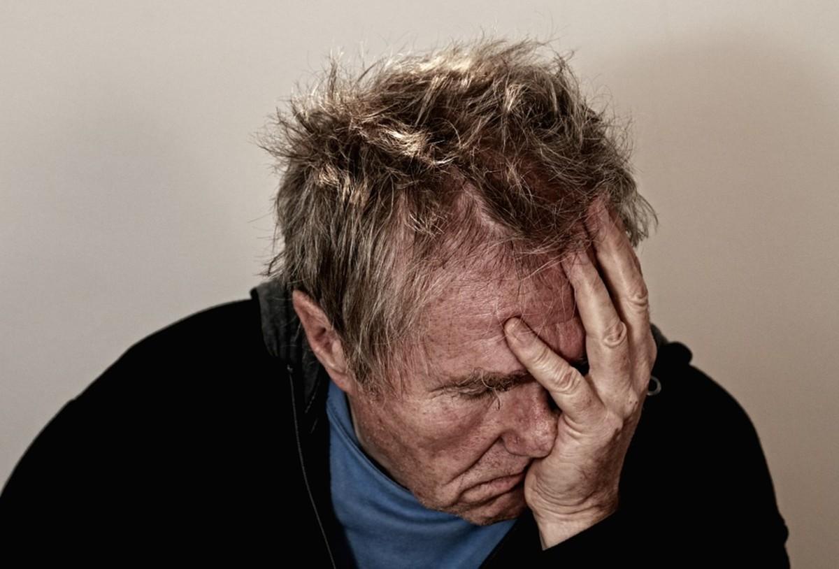 Man suffering from SAD