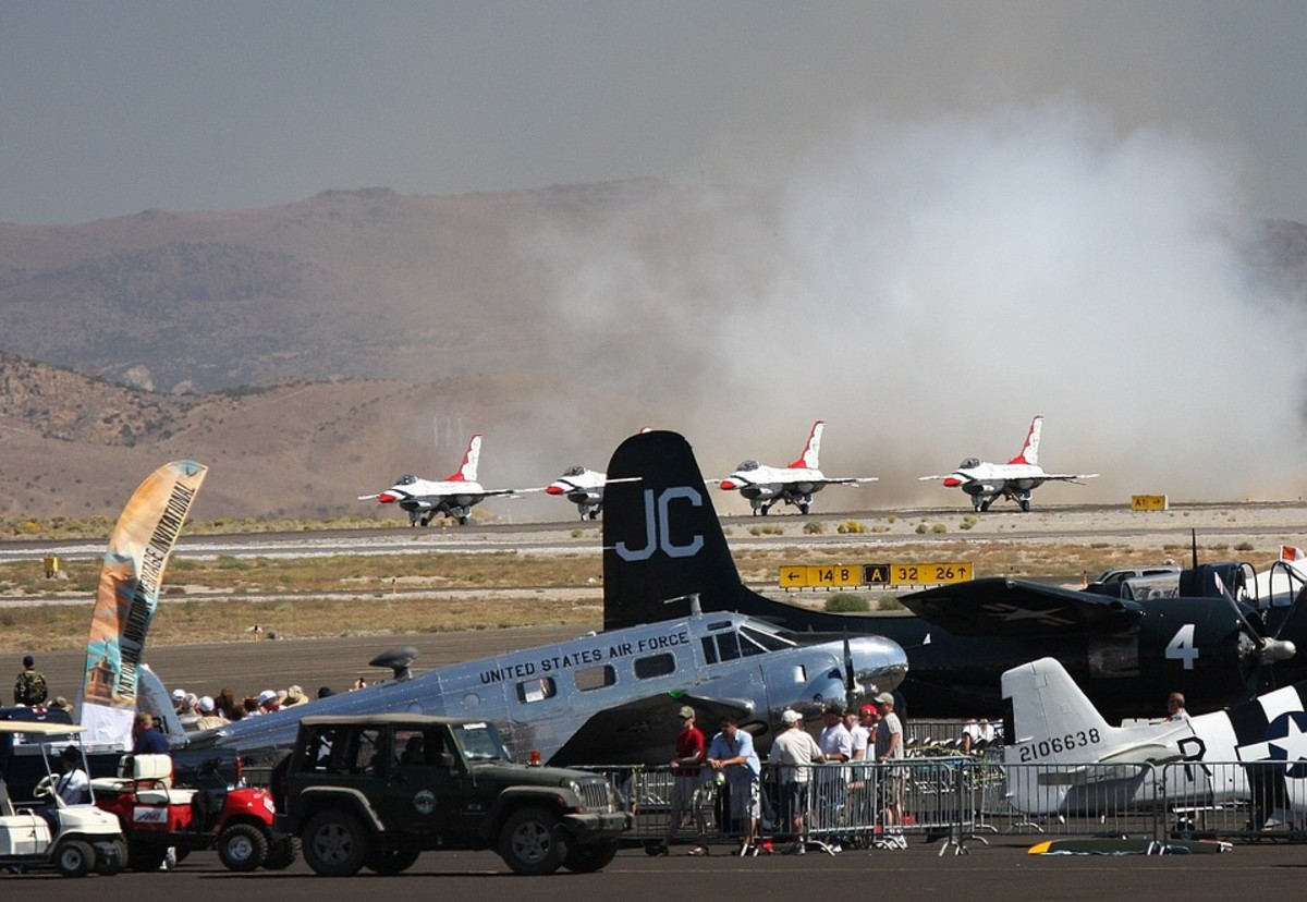 Reno Air Show: Popular tourist attraction.