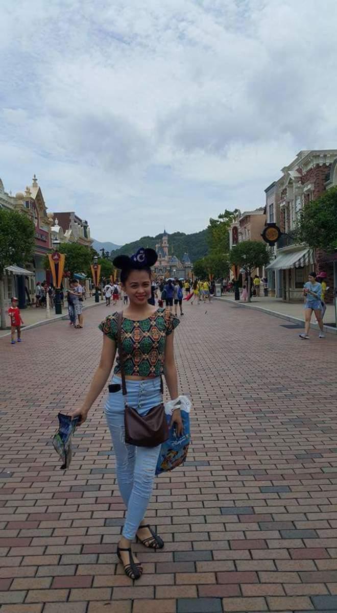 I bought Mickey mouse headband at Hong Kong Disneyland.