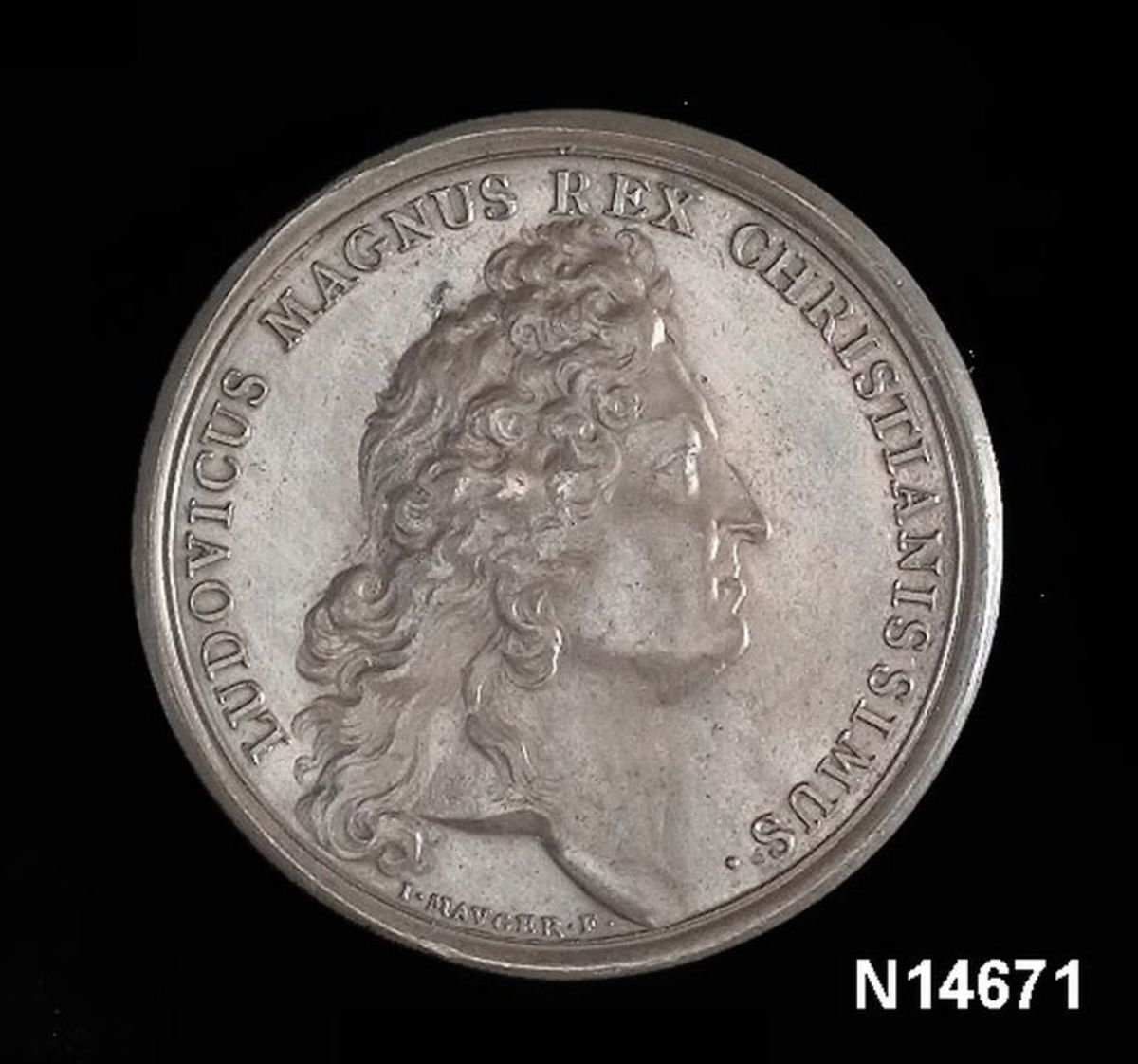 Commemorative medal struck to honor Louis XIV's rare victory at Beachy Head.  Usually, it was the other way around