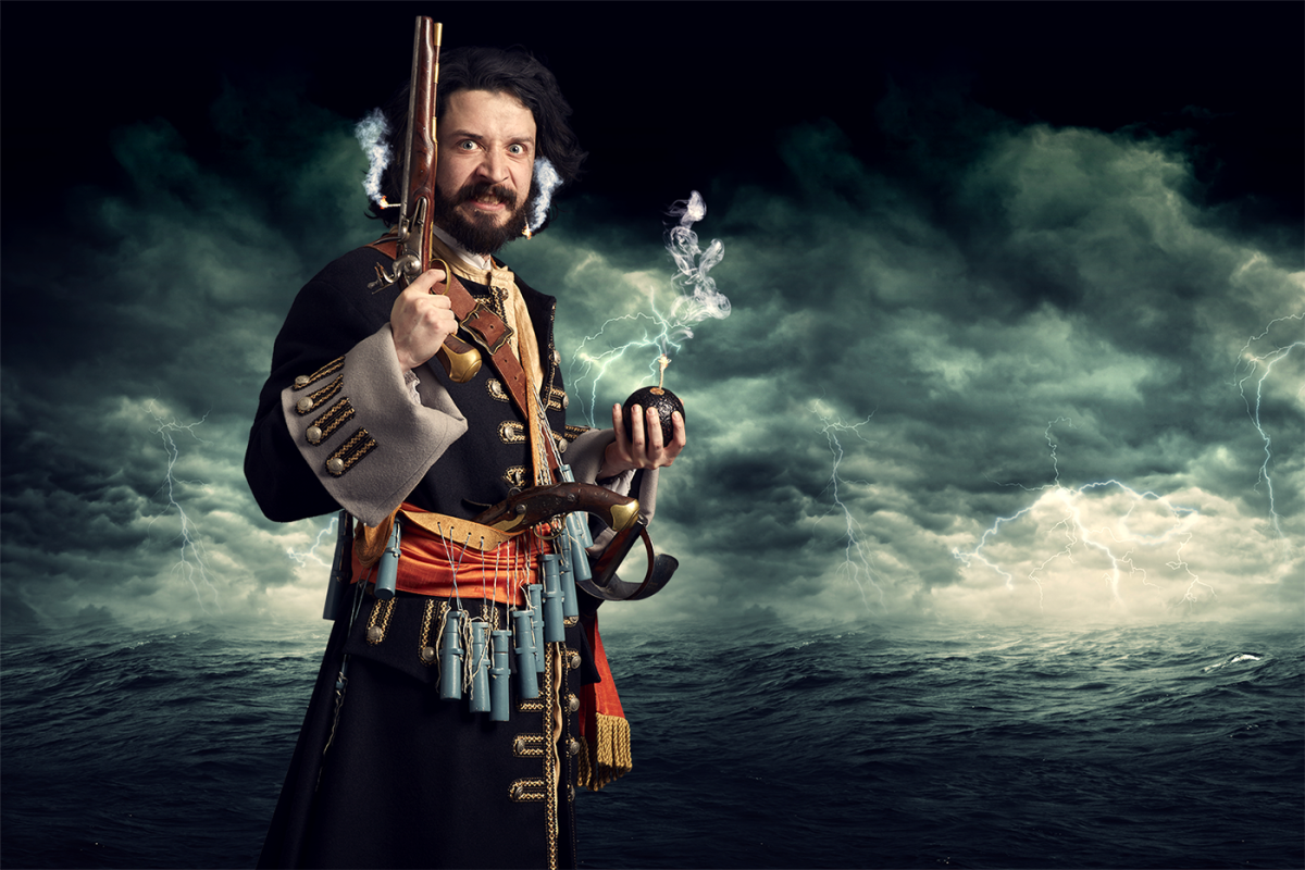 """Edward Teach, the notorious """"Blackbeard"""", who plundered this coast and extended his renegade activities south into the Caribbean"""