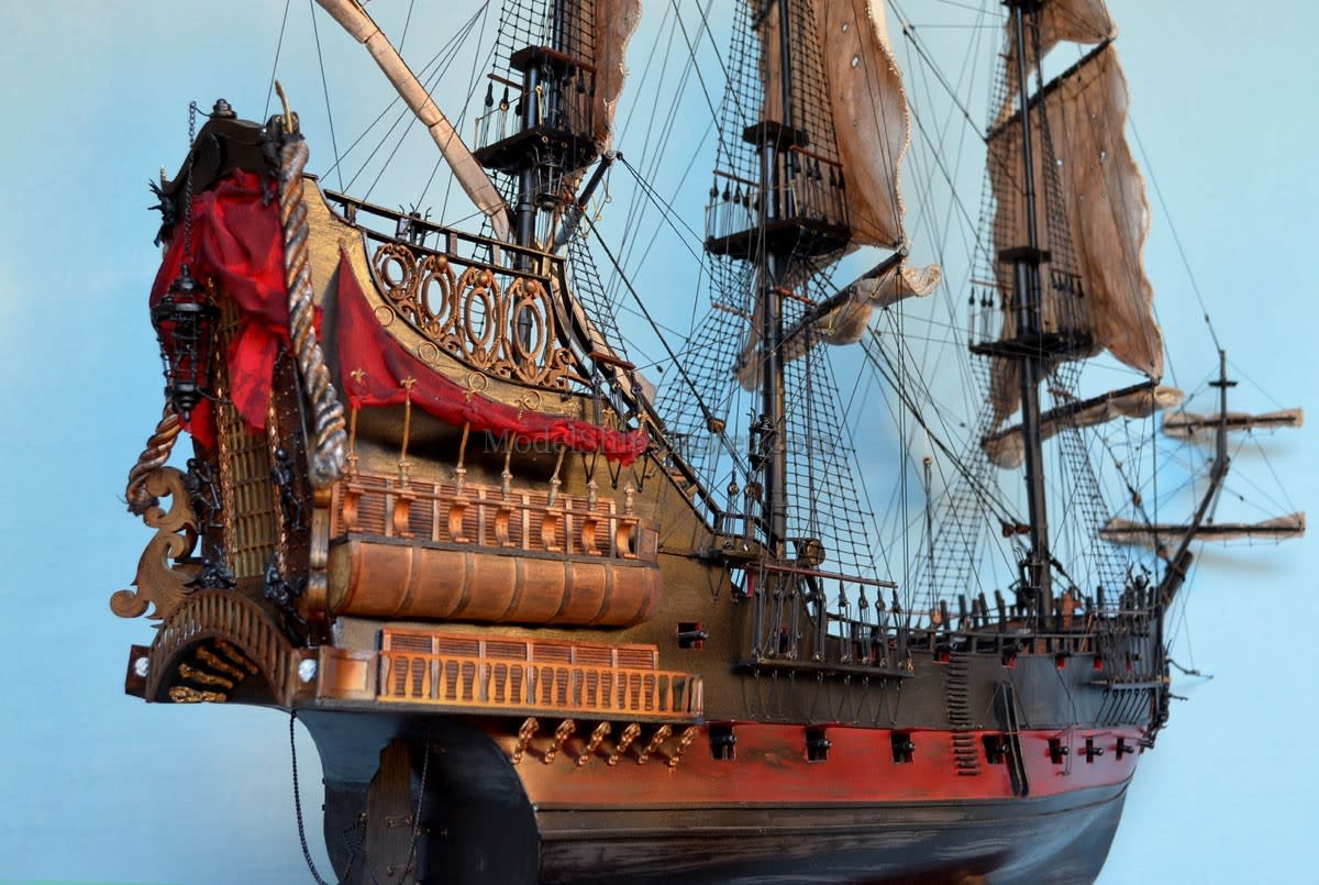 Blackbeard's pirate ship, which he used to outrun the Royal Navy until he was killed