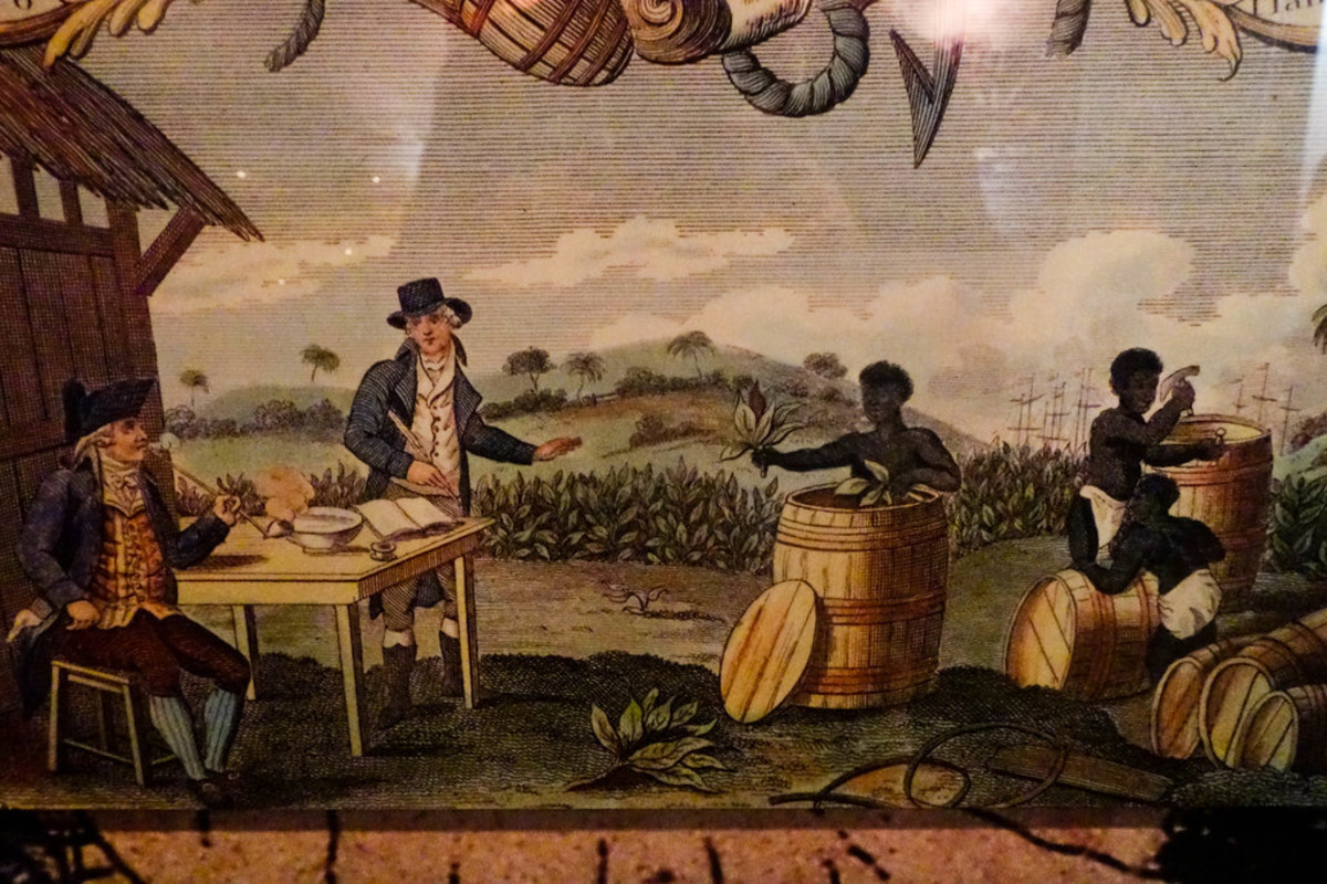 Tobacco trading in the New World