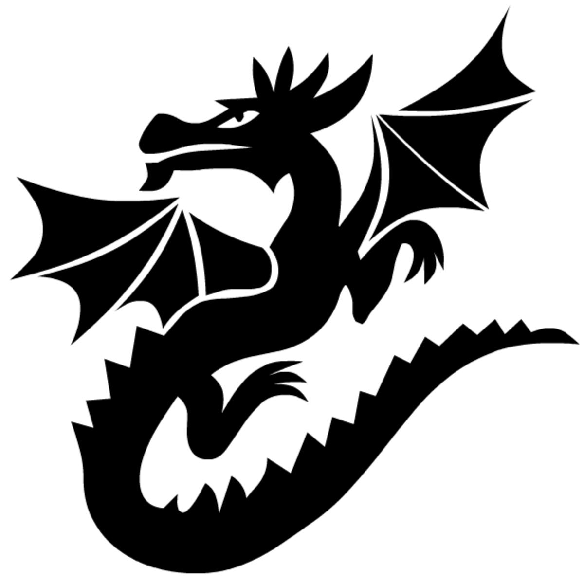 Free gothic dragon