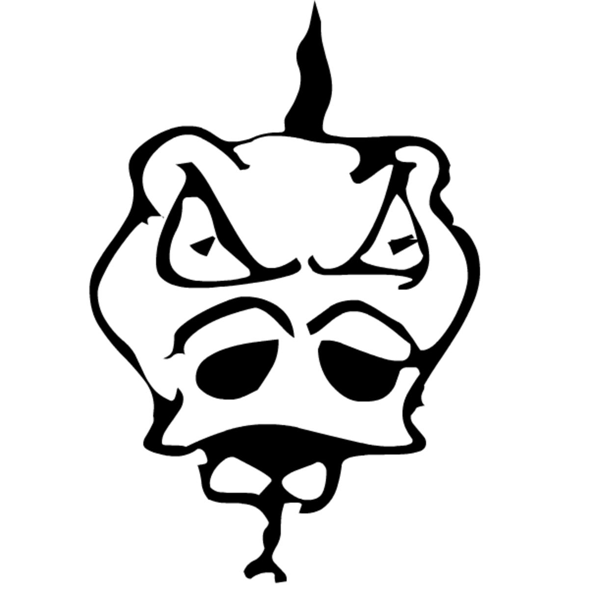 Free fantasy dragon head