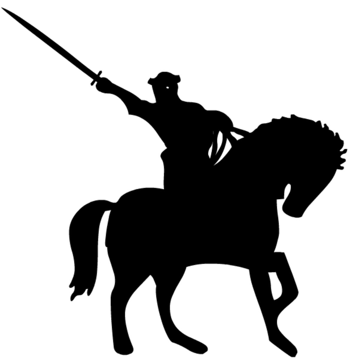 gothic fantasy art knight on horseback