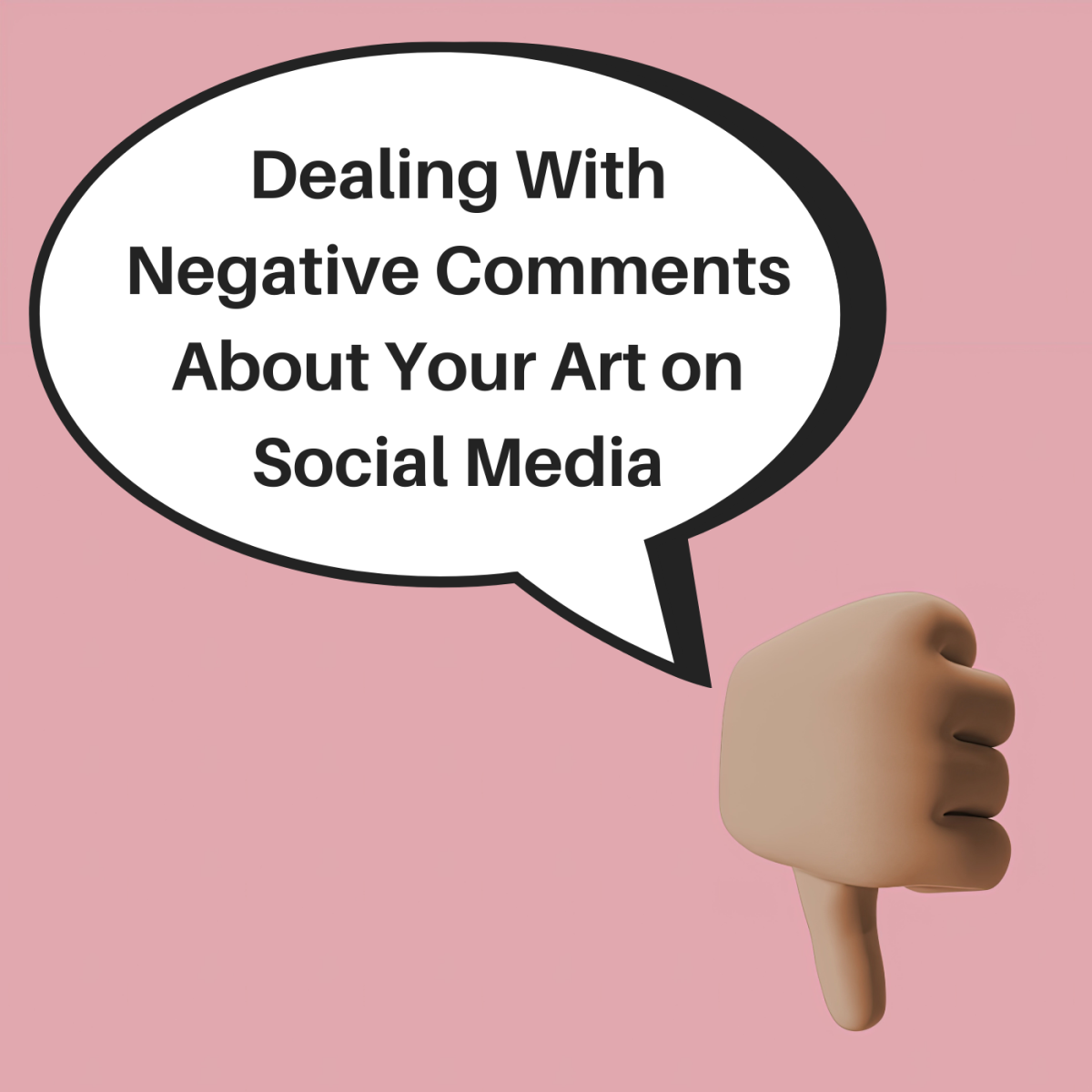 Learn how to handle negative social media comments about your art.