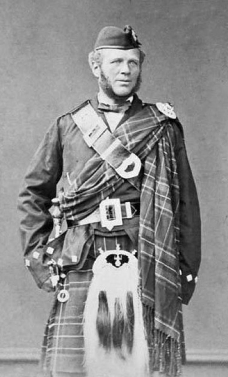 John Brown (1826-1883,) Queen Victoria's devoted servant. He leapt to defend her against Arthur O' Connell in 1872.