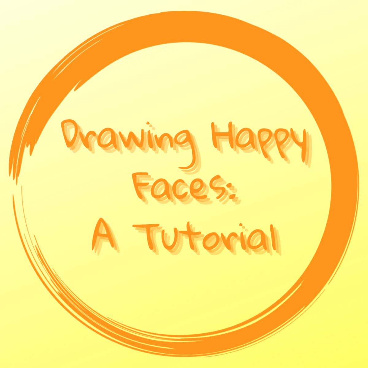 This drawing tutorial will teach you how to easily draw your own happy faces