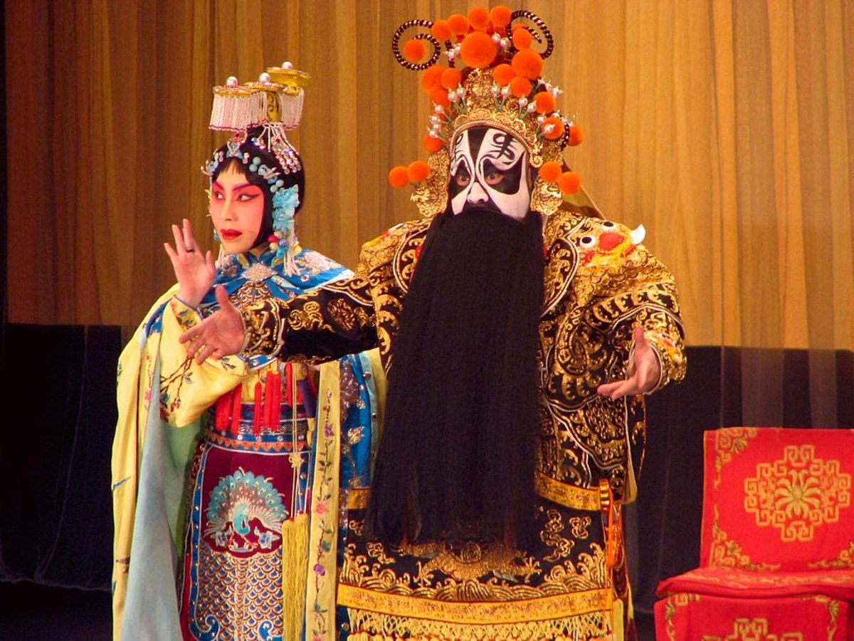 Costume and makeup in the opera Farewell My Concubine