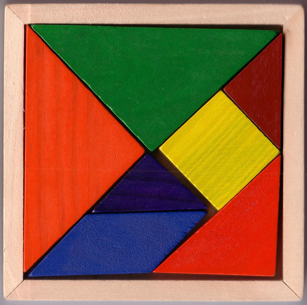 Traditional tangram puzzle