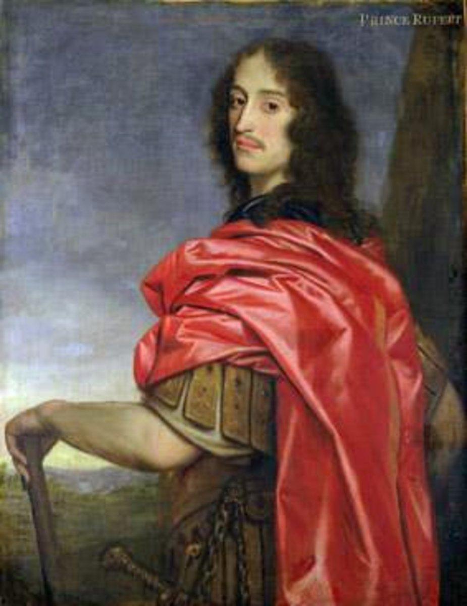 Prince Rupert of the Rhine. Charles I's nephew, Charles II's cousin.