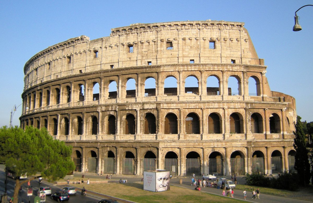 The Colosseum, a resilient Roman amphitheater of the gladiators that has lasted since AD72.
