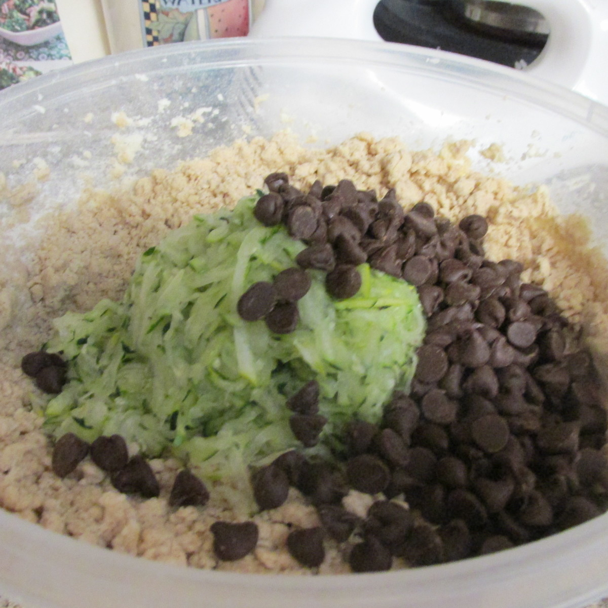Add the zucchini and chocolate chips