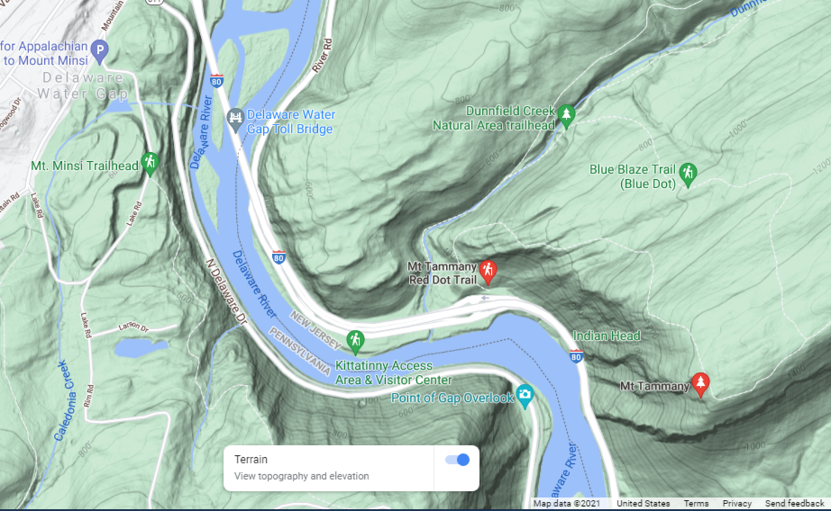 Mount Tammany Red Dot Trail