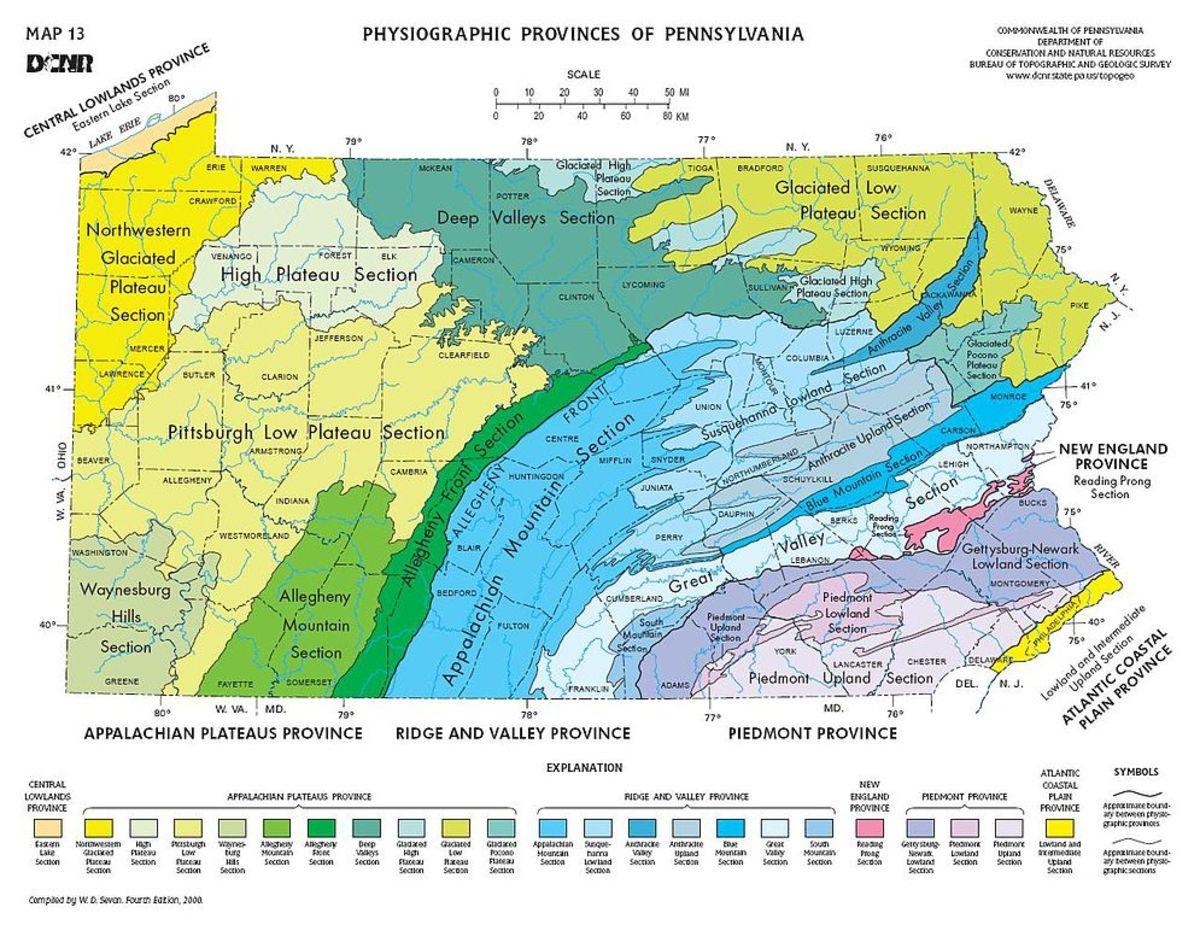 Pennsylvania Mountain Regions