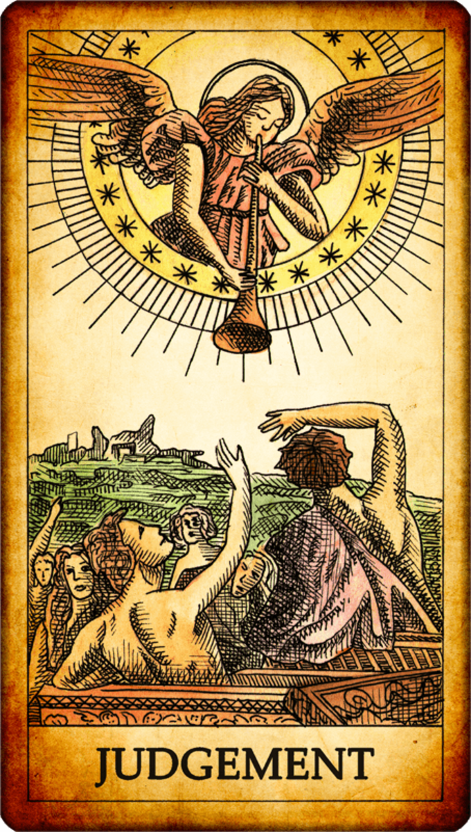 The Judgement card is about liberation. Let go of the chains that bind you. Stop punishing yourself over things that happened years ago. Seek for higher understanding. It's time to leave your past behind.
