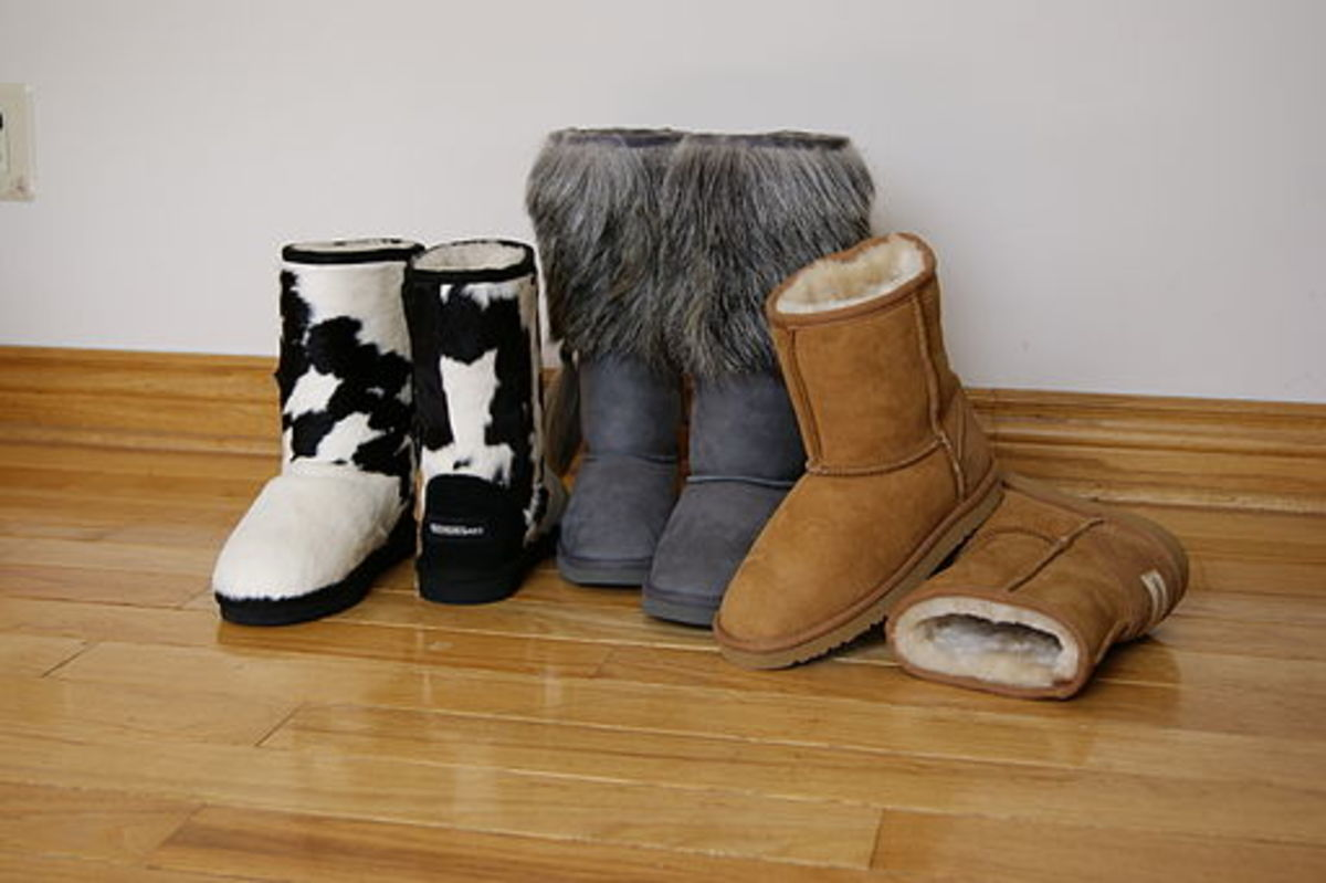 Various styles of Ugg Boots
