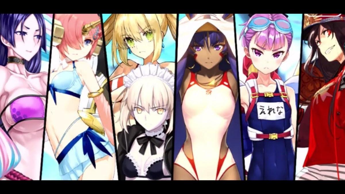 Swimsuit Servants in Fate Grand Order