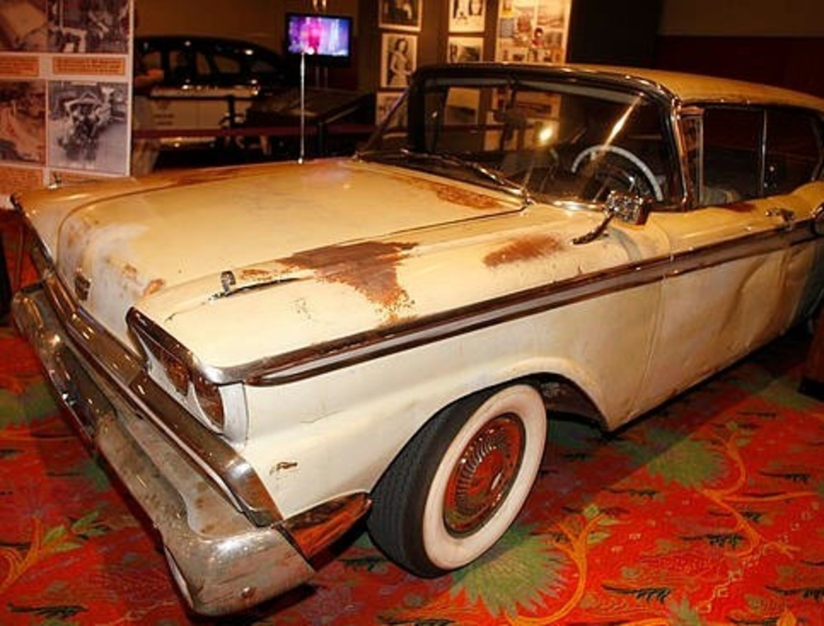 The actual '59 Galaxie driven that night, now in the hands of a private collector.