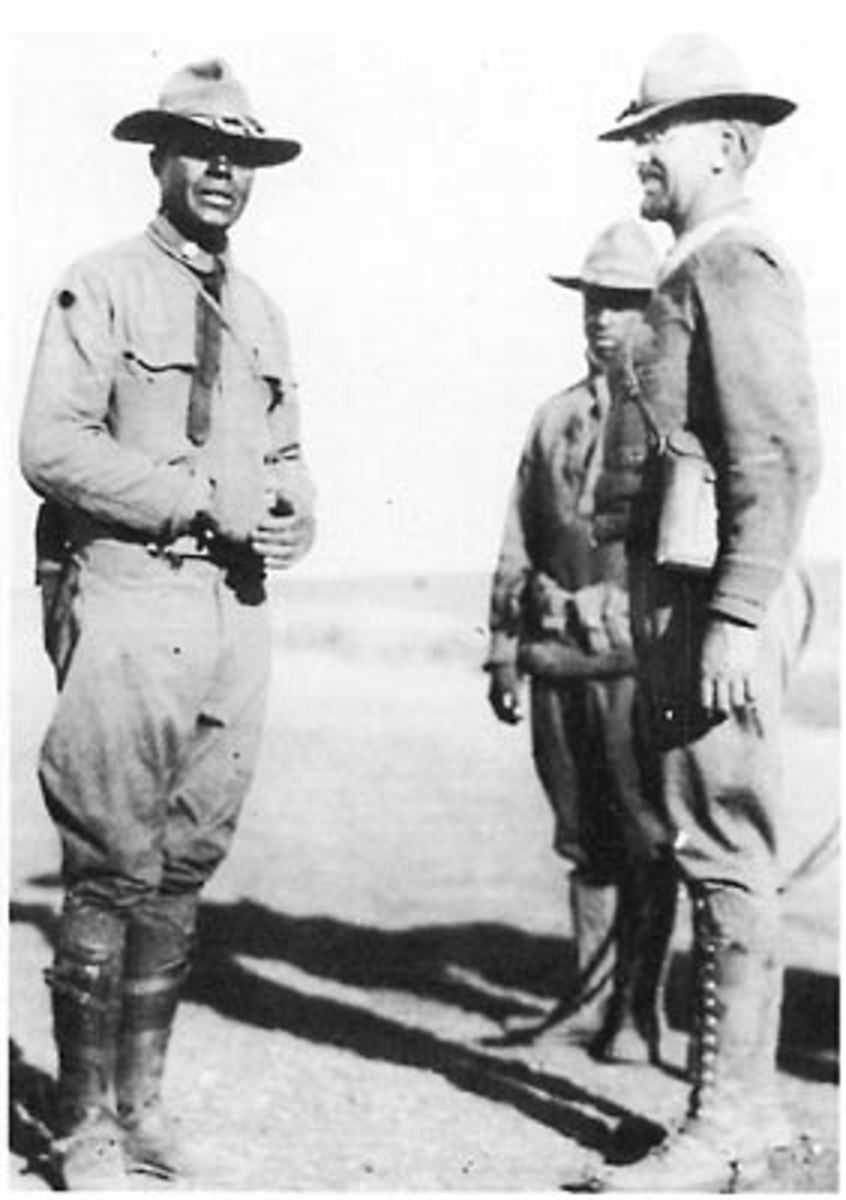 Major Charles Young with additional officers in Mexico.