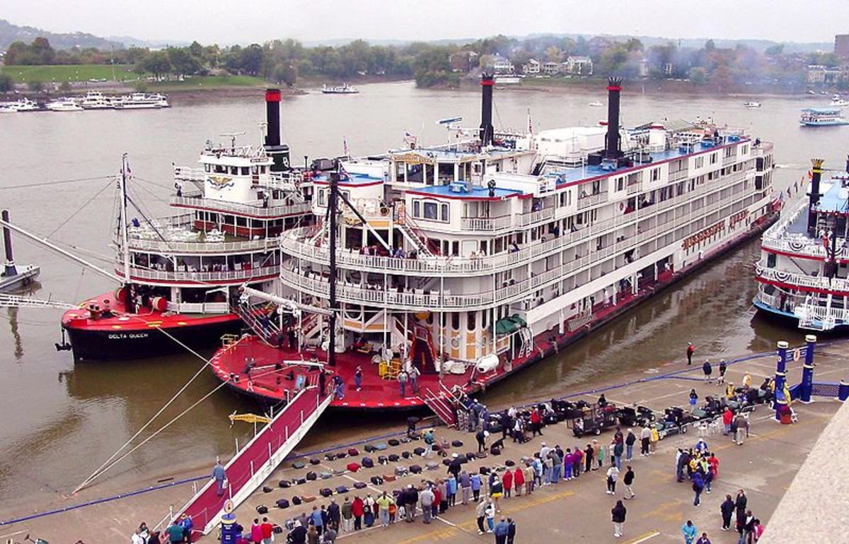 Steamboats still ply the Mississippi River but only as pleasure cruises.